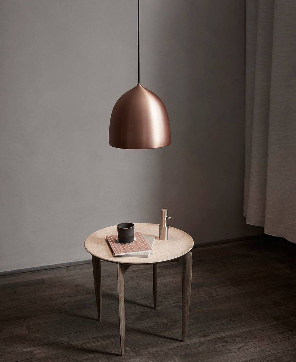 Coming Very Soon Light Years Suspence In A Stunning On Trend Copper Finish Minimalist Interior Design Table Copper Lighting