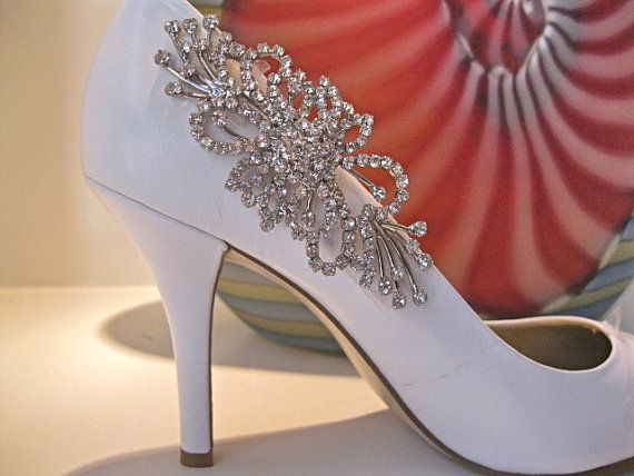 Bridal Shoe Clipcrystal Jewelsparkling By Ctroum On Etsy 82 00