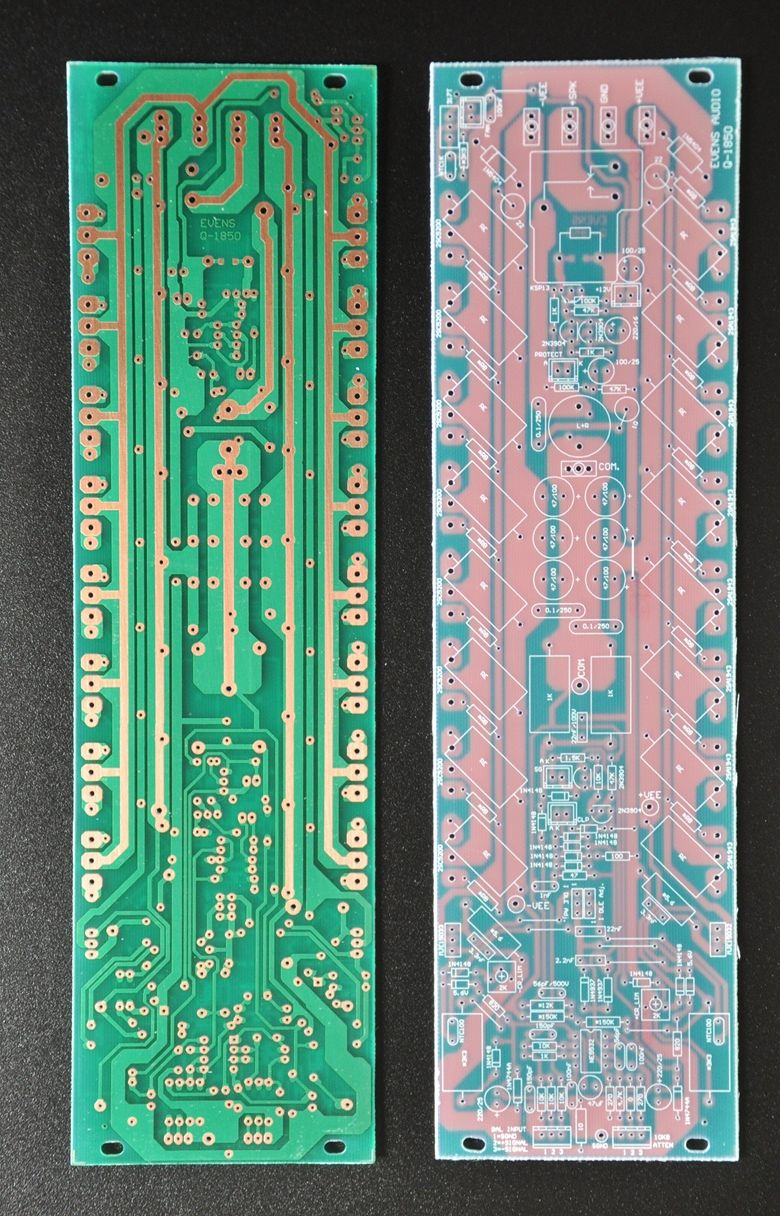 Pcb Q 1850 Evens Audio Shoping Simple Amplifier With C945mje340 And Tip3055 Development