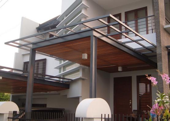 Desain Canopy Carport Minimalis Bahan Rangka Dan Atap Canopy Design Carport Designs Canopy Architecture