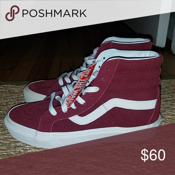 dab81d8d0d NWT Van s Sk8-Hi Maroon Skate Shoe High Tops Maroon. Never worn. New with  tags. Vans Shoes Sneakers