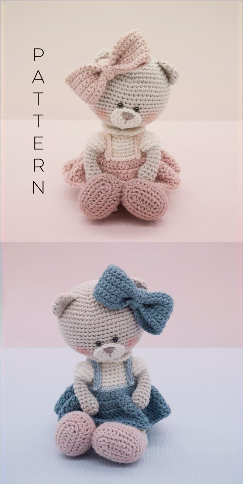 Amigurumi Crochet Pattern English Millie Rose The Teddy Bear