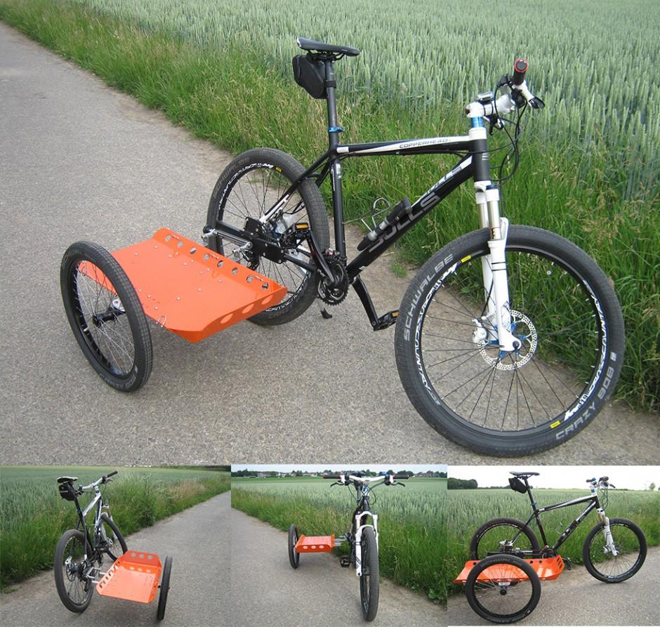 Seitenwagen am Fahrrad DIY Selbstbau Anhänger Seitenwagen