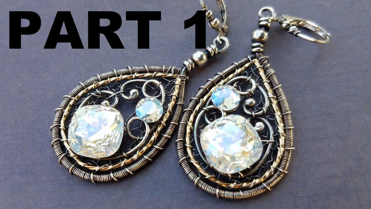 Wire Wrapping Tutorial - New Years Earrings Part 1 | Wire Jewelry ...