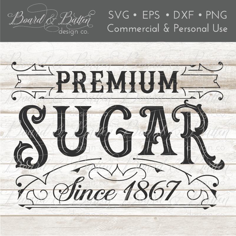 Premium Sugar Vintage Label   Cutter Files I have   Cricut design