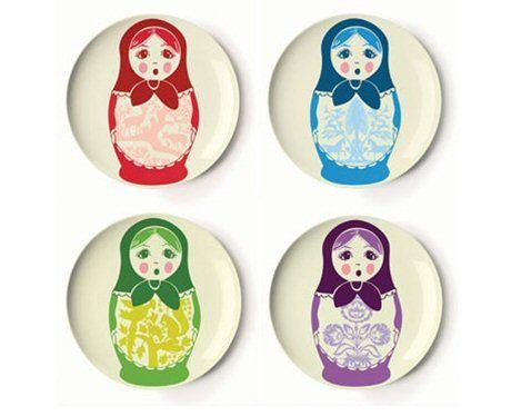 Thomas Paul Folk Collection Dessert Plates
