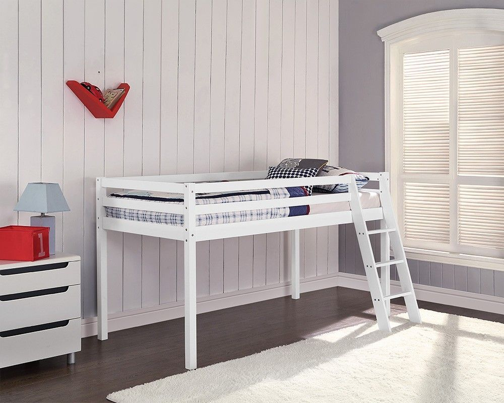 breathtaking wooden mid sleeper bed with lader for young ones