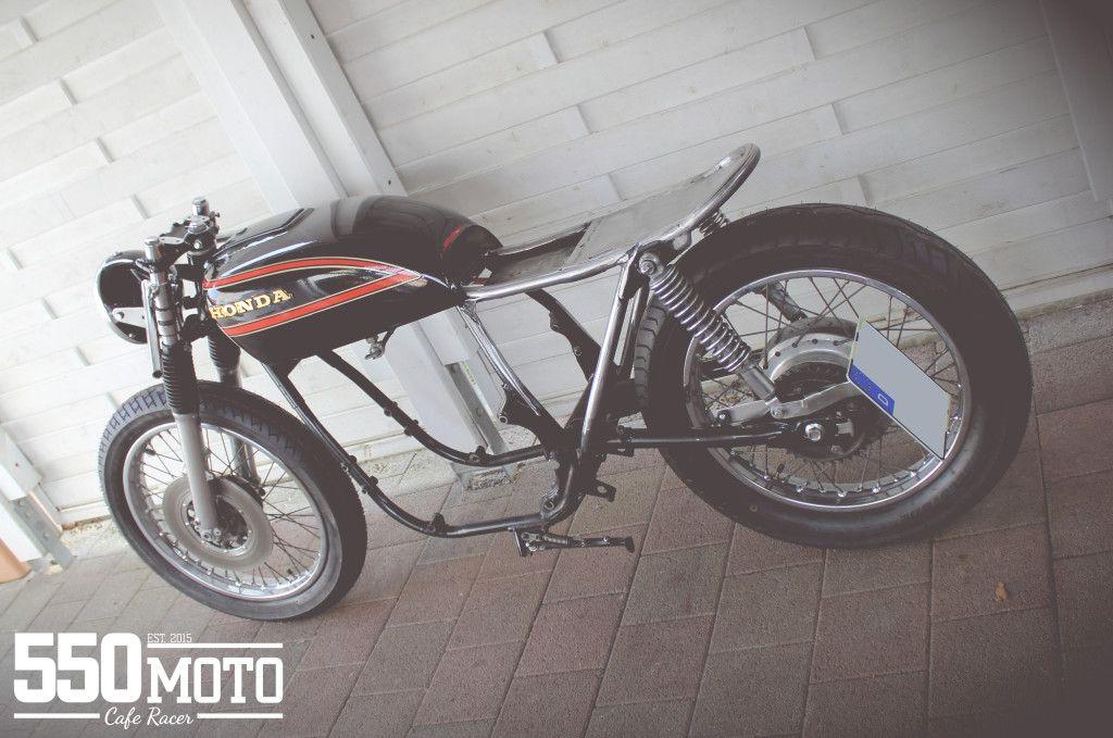 Honda CB 550 K3 Cafe Racer Rahmen Cutted Frame Loop | Honda Cb cafe ...