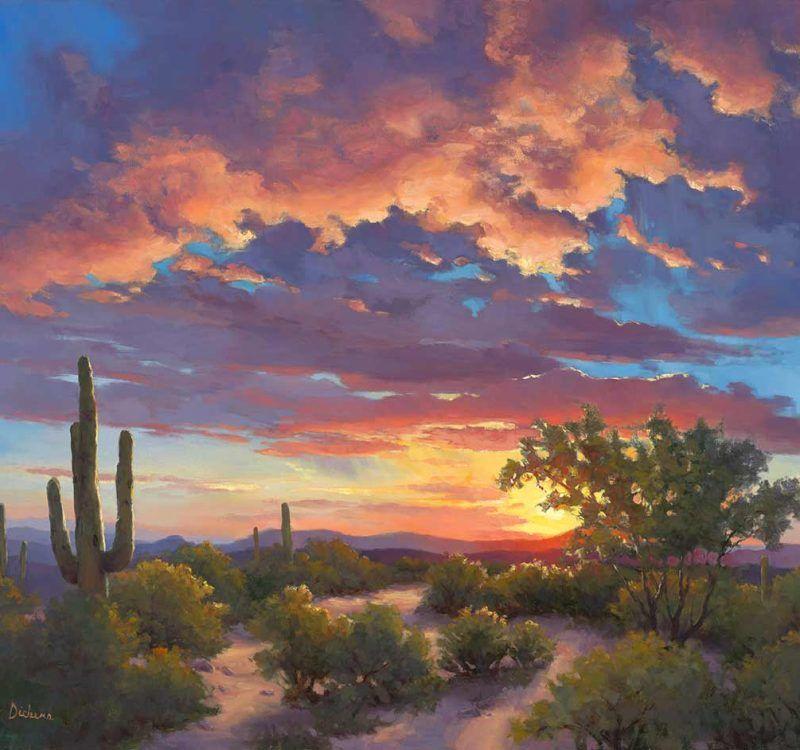 Lucy Dickens Fine Art Gallery Of Original Oil Painting Journeys Lucy Dickens Fine Art Desert Painting Desert Landscape Painting Art Painting