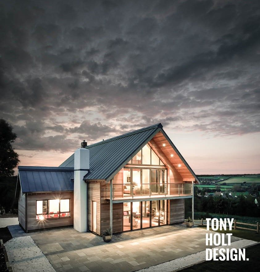 Tony holt design self build completed project dairy farm lodge new build dwelling in modern - Make a house a home ...