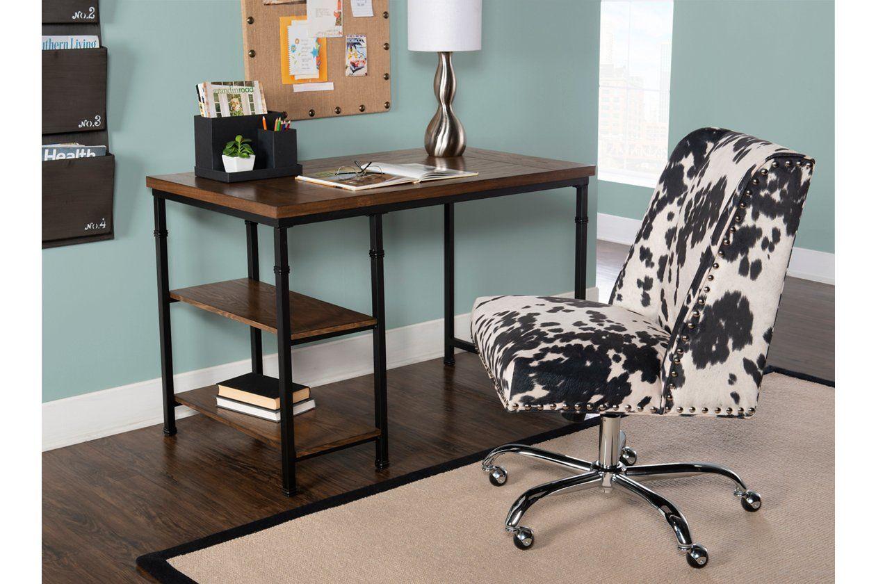 Austin 2 Shelf Desk Ashley Furniture Homestore Desk Shelves Home Office Furniture Desk Shelves