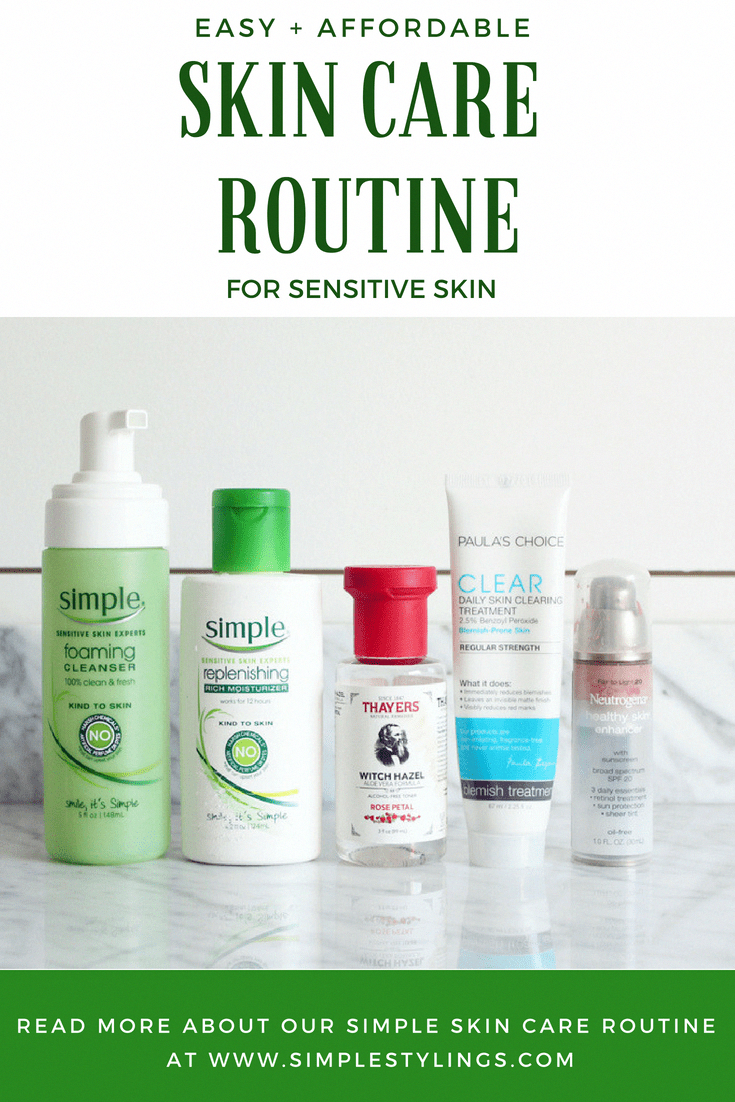 An Easy Affordable Skin Care Routine For Sensitive Skin Beauty Routine Clean Skinca Affordable Skin Care Affordable Skin Care Routine Sensitive Skin Care