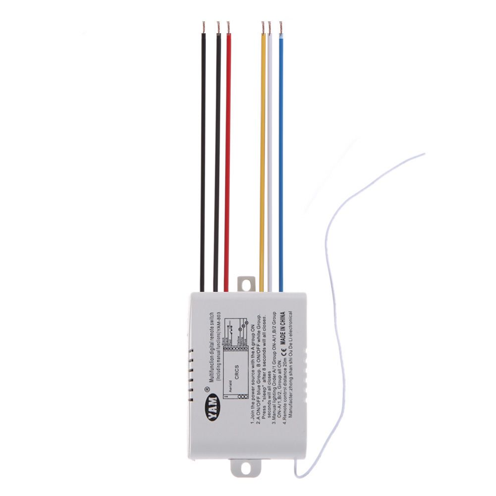 3 Way Port On Off 220v 3000w Lamp Led Light Digital Wireless Remote Control Switch Remote Controller Remote C Lamp Light Light Accessories Smart Bulb