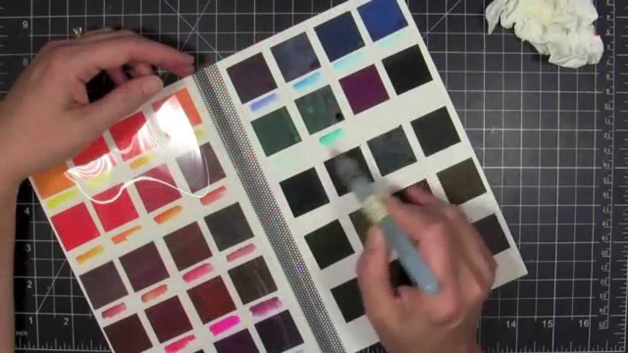 Diy Portable Peerless Watercolor Palette Swatch Book With
