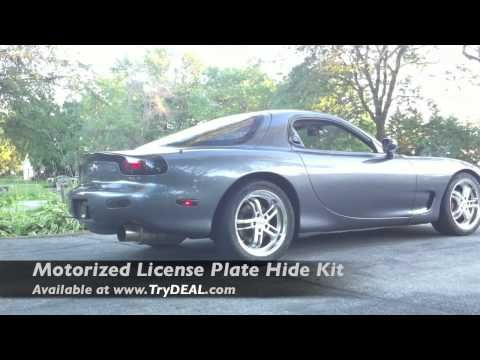Flip Plate Battery License Plate Hide Kit 550hp Rx7 License Plate Rx7 Plates