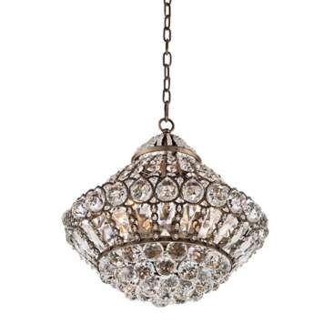 Wallingford 16 Wide Antique Br And Crystal Chandelier