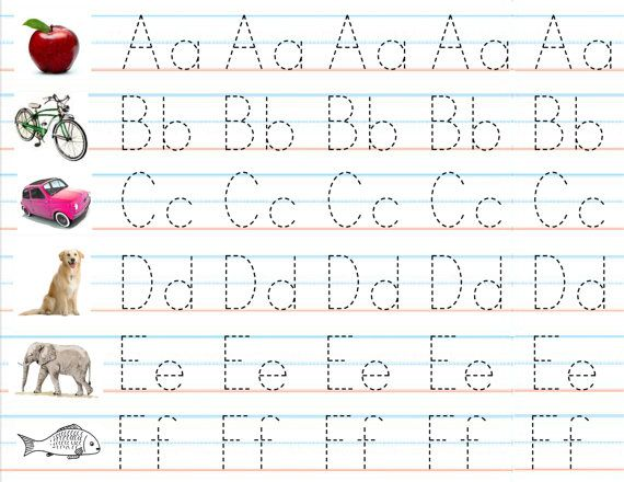 Set of 3 Laminated Alphabet Number Sheets for Writing Practice – Kindergarten Handwriting Practice Worksheets