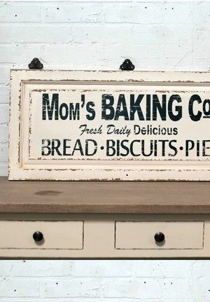 Baking Sign Vintage Bakery Sign Antique Signage Antique Signage Vintage Bakery Kitchen Signs