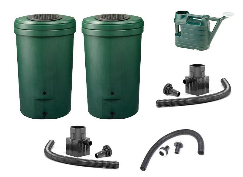 350l harcostar magnum rain barrel water butt twin pack. Black Bedroom Furniture Sets. Home Design Ideas