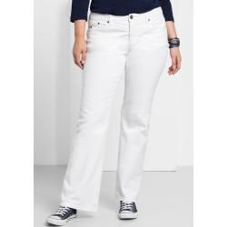 Große Größen: Bootcut-Stretch-Jeans Maila, white Denim, Gr.22 Sheego