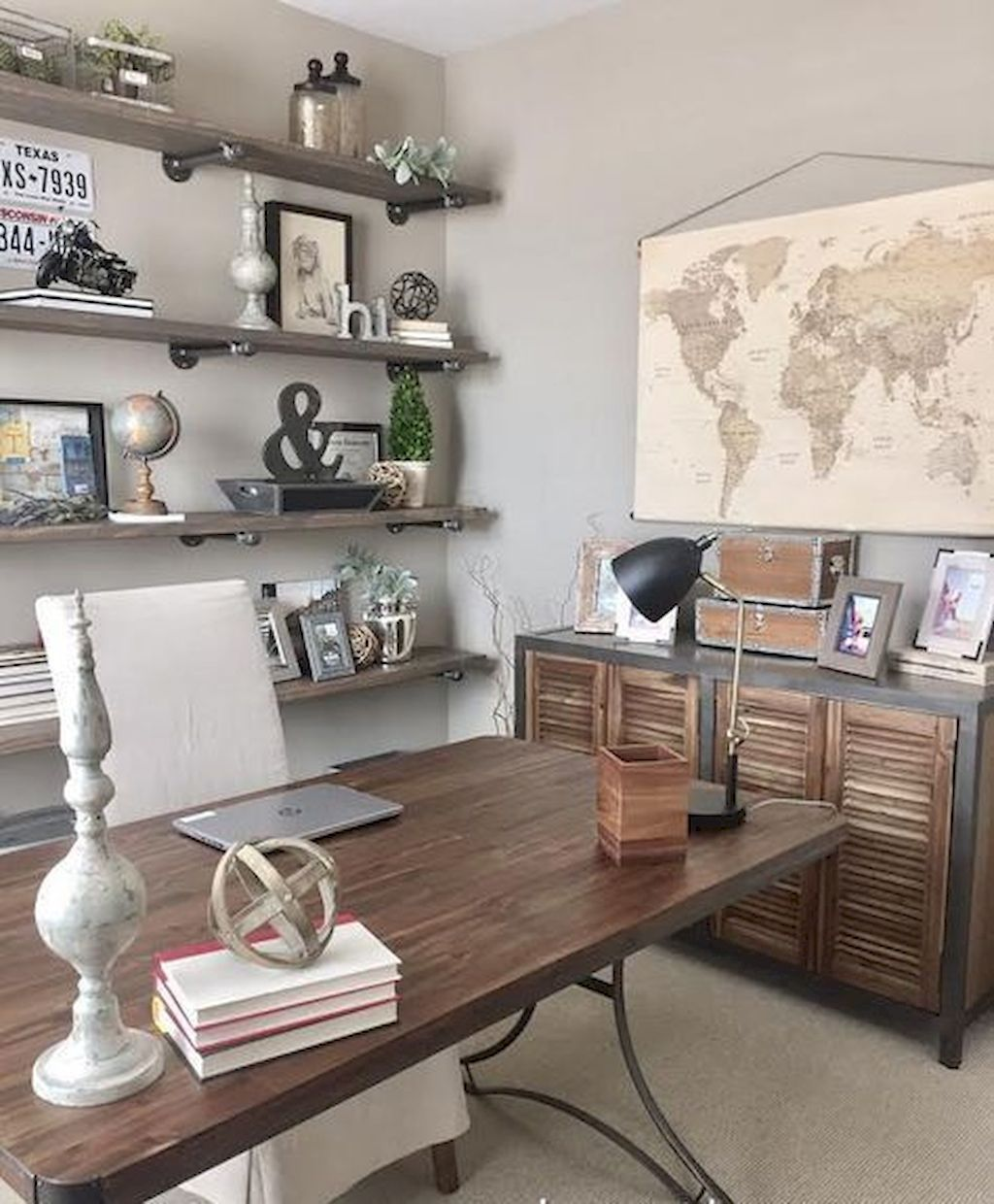 At home office ideas for men   decor vintage also how to build industrial wood shelves rh pinterest