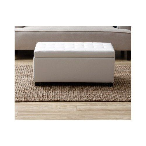 Amazon Com Shoe Storage Bench White With Cushion Living Room Bedroom Faux Leather Lift Top Home Storage Bench White Storage Ottoman Footstool Living Rooms