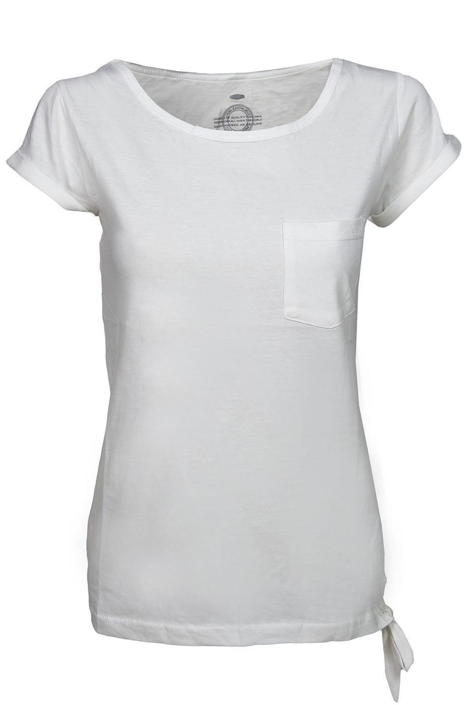 Das besondere Basic T-Shirt mit Rundhalsausschnitt fr den Sommer. Schlaufen-Details, gekrmpelte rmel und kleine Fronttasche machen dieses T-Shirt dennoch zu einem Highlight Material: 100% Baumwolle...