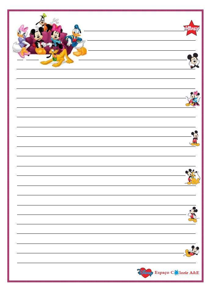 portal A \ E, stationery mickey-16 Printable Stationery - printable notepad paper