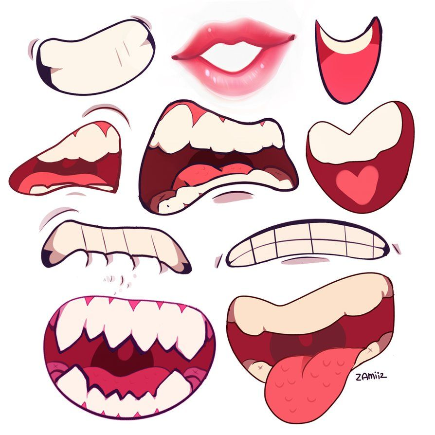 Mouths By Zamiiz On Deviantart Drawing Expressions Art Reference Photos Art Tutorials