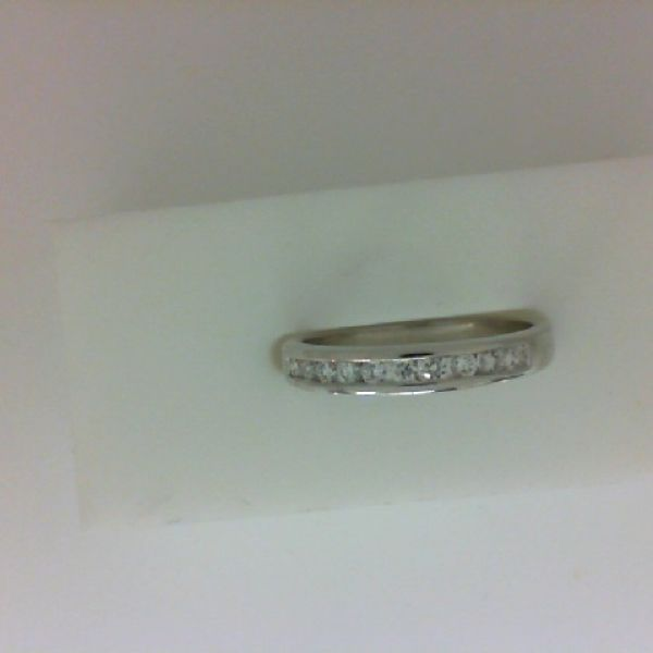 14K White Gold Channel Set Diamond Ring, 0.25 Cttw., H Color, VS2 Clarity Average.   Wedding Rings from Padis Gems   San Francisco, CA $499