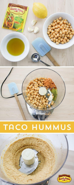 Craving A Unique Snack Try This Taco Hummus Add Old El Paso Taco