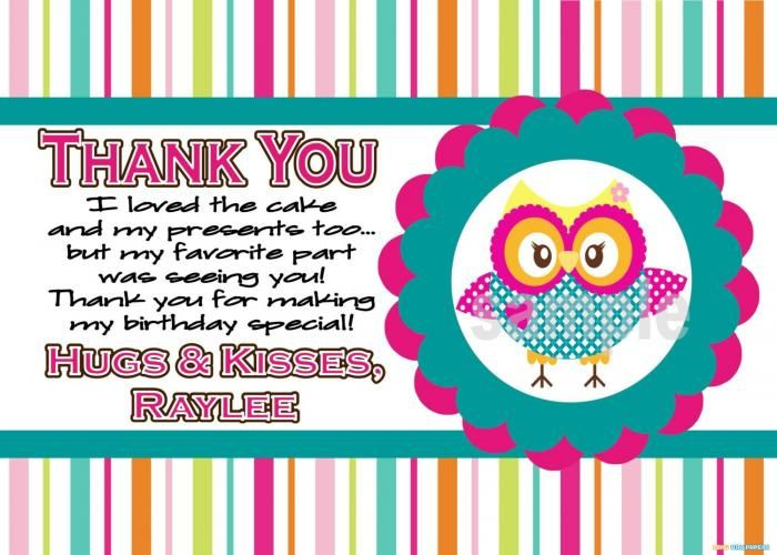 Image Result For Thank You Note For Attending A Special Birthday