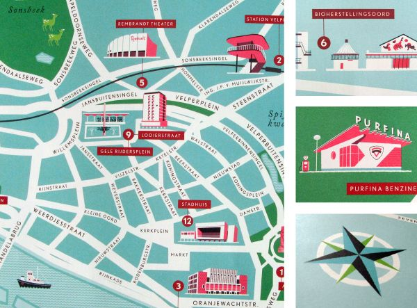 Esther Aarts Map of Arnhem Maps Pinterest Infographics