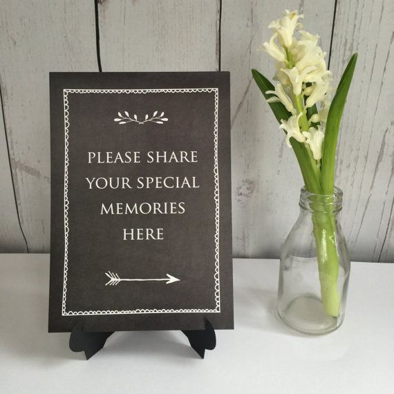 Share Your Memories Sign Condolence Book Funeral By