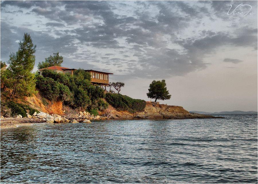 #house #sea #water