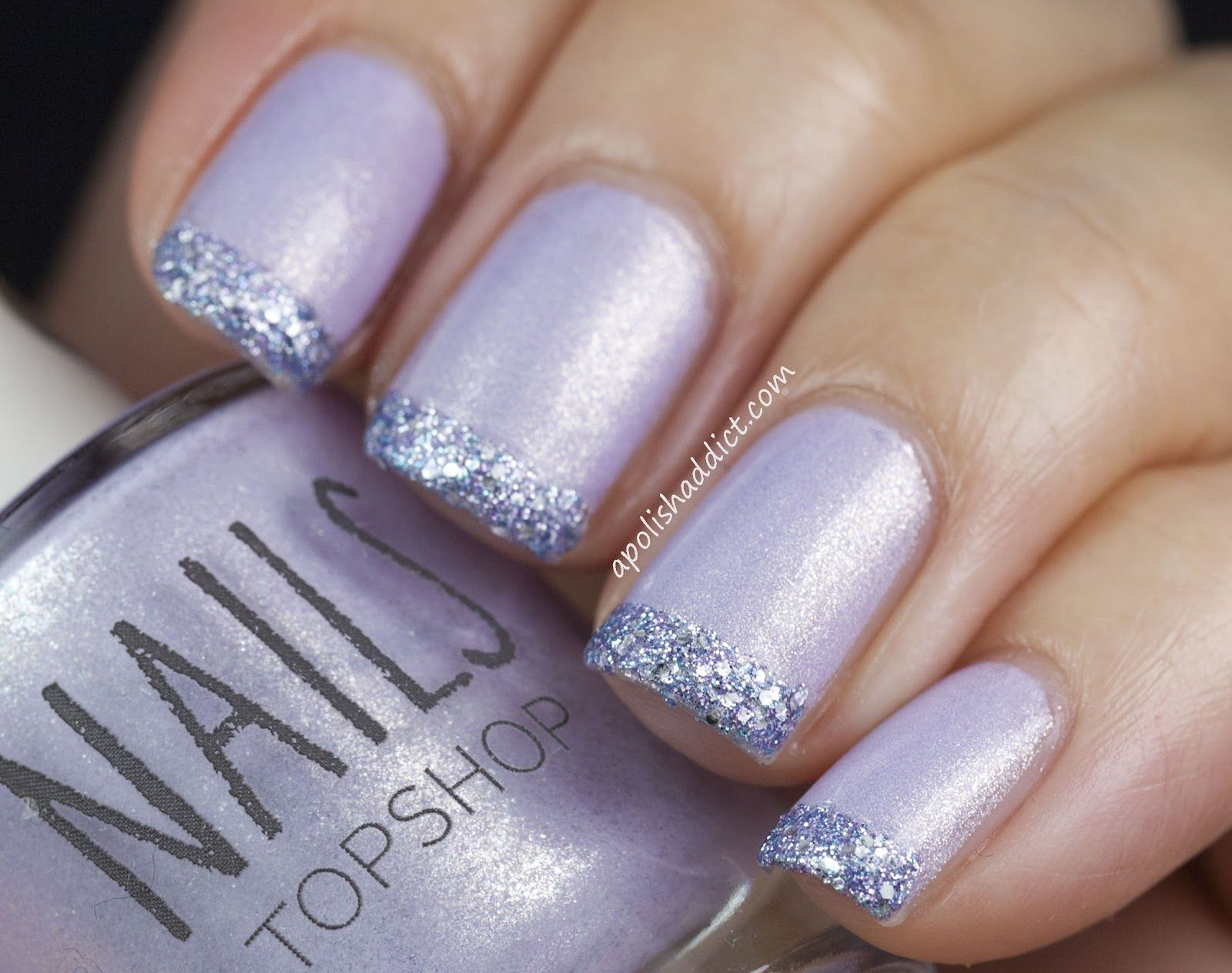 A Polish Addict: Topshop Chase & French Glitter Tips | Nails | Pinterest