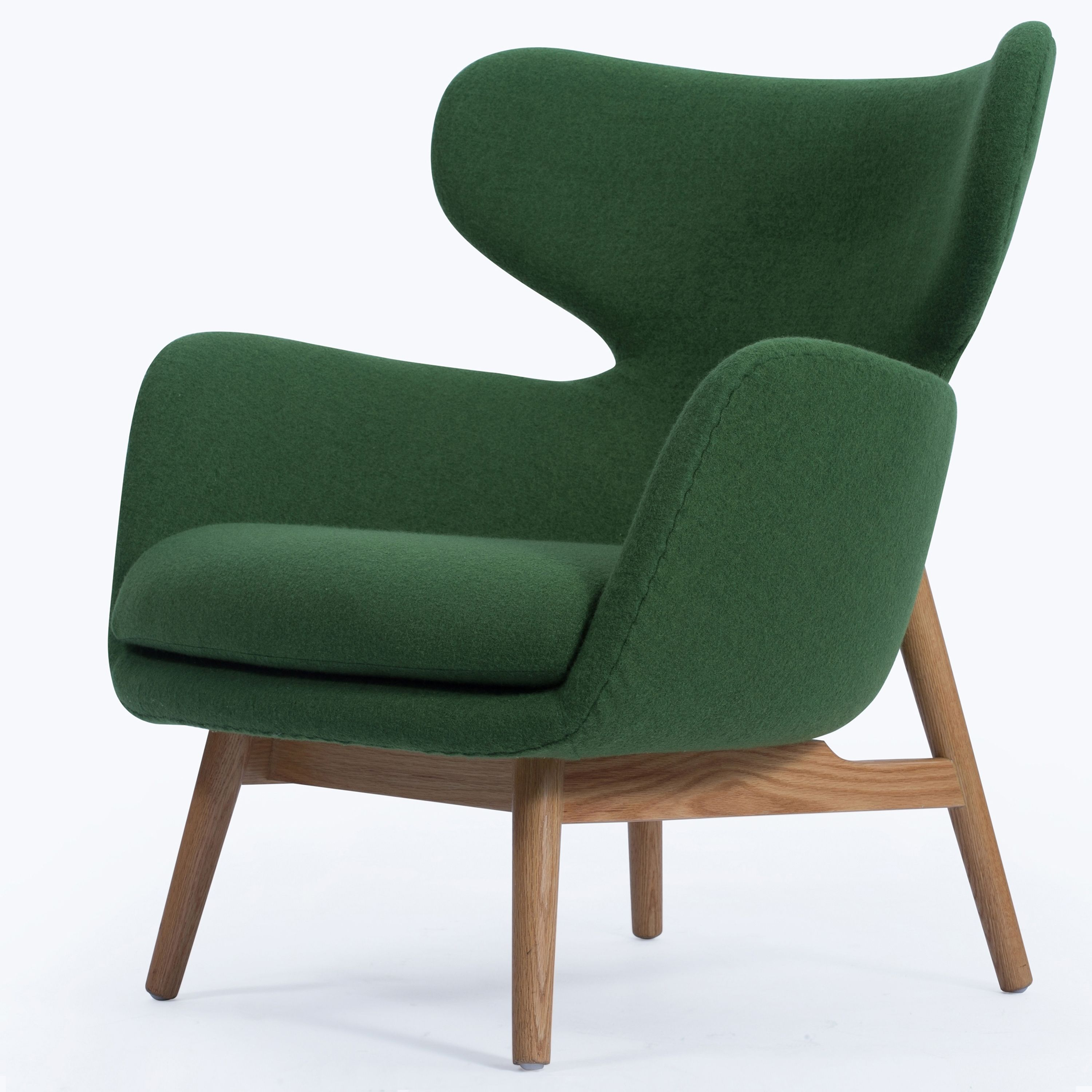 Best Devana Fabric Accent Chair Natural Legs Forest Green 400 x 300