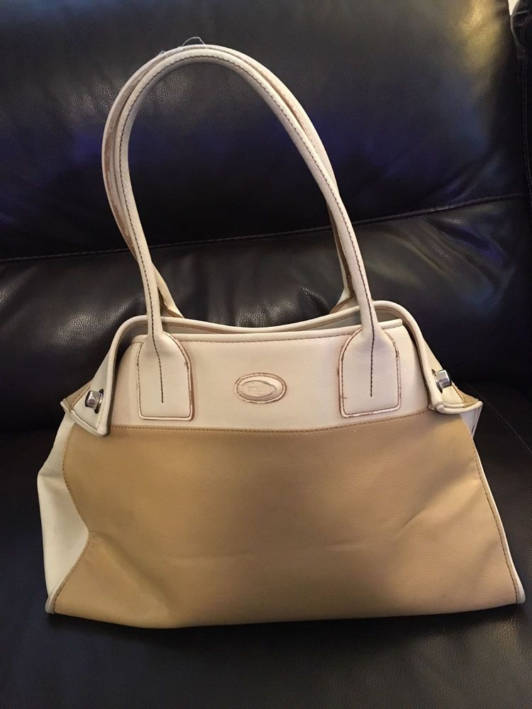 b005bef517 TODS Purse Two Tone Tan and Beige - Used  fashion  clothing  shoes   accessories  womensbagshandbags (ebay link)
