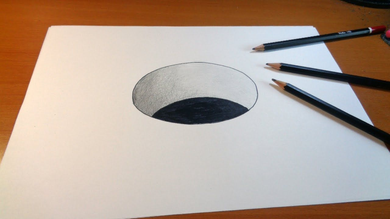 Drawing 3d hole how to draw 3d hole for kids