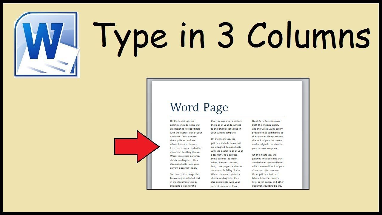 The Interesting How To Type In 3 Columns Word For 3 Column Word Template Picture Below Is Part Of 3 Word Template Words Invoice Template Word