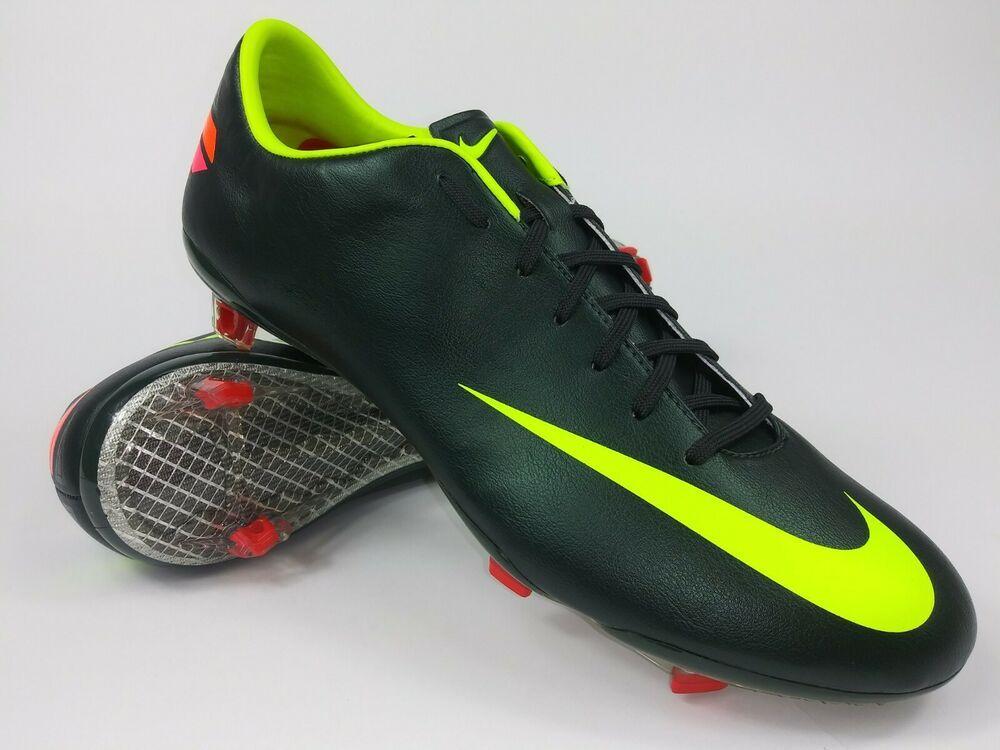 61c277ec91022 eBay #Sponsored Nike Men Rare Mercurial Vapor Vlll FG 509136 376 Black  Green Soccer Cleats