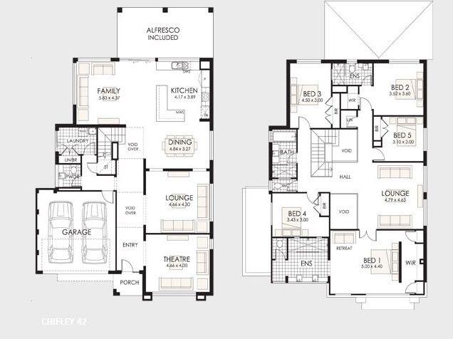 Plano+de+casa+de+dos+pisos+grandejpg (636×476) sims 4 Pinterest