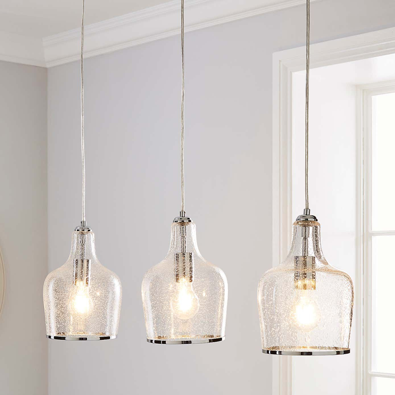 Lenny 3 Light Glass Diner Ceiling Fitting In 2020 Light Fittings Living Room Ceiling Lights Pendent Lighting
