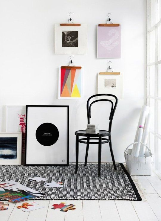 Great Ways To Display Art Without Nails Hanging Art Gallery