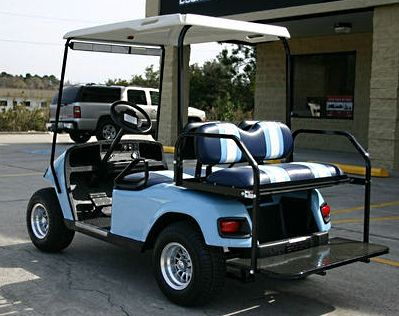 Ezgo Pds 36v Baby Blue Electric Golf Cart W Sd Chip