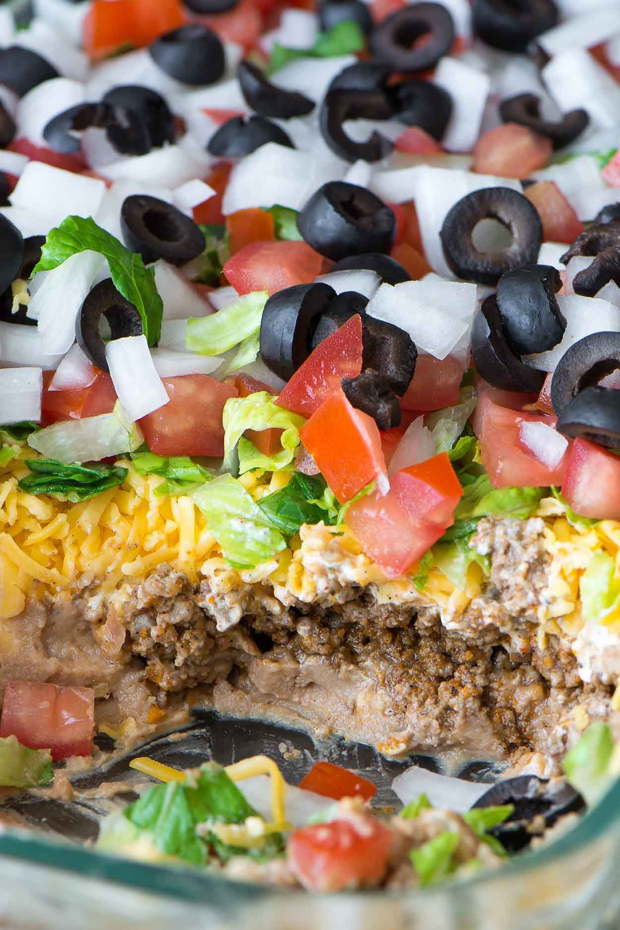 How To Make The Best 7 Layer Dip Simple Revisions Recipe Layered Taco Dip Layered Dip Recipes 7 Layer Taco Dip