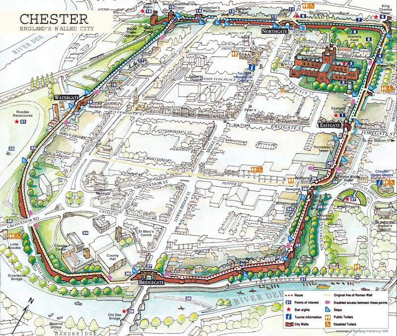 Map Of England Chester.Chester Is The Only Walled City Still Standing In England My