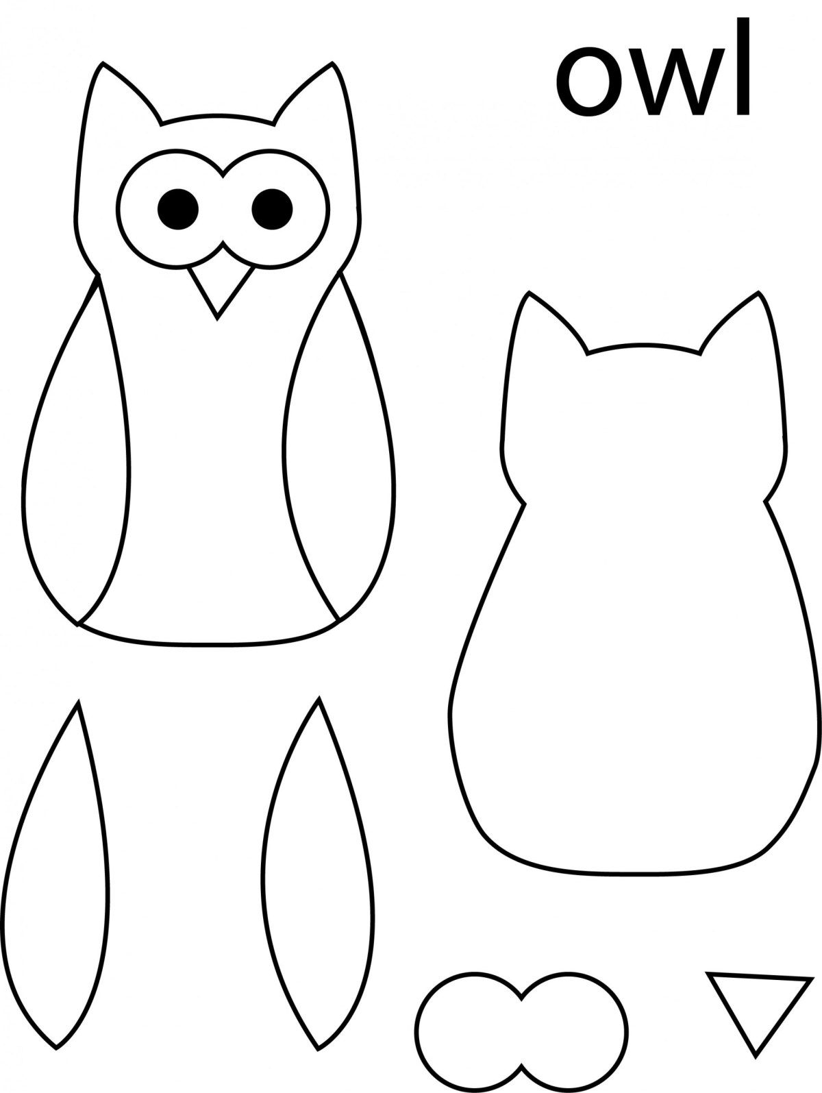 Owl Template Pre K Activities Owl Templates Owl Felt