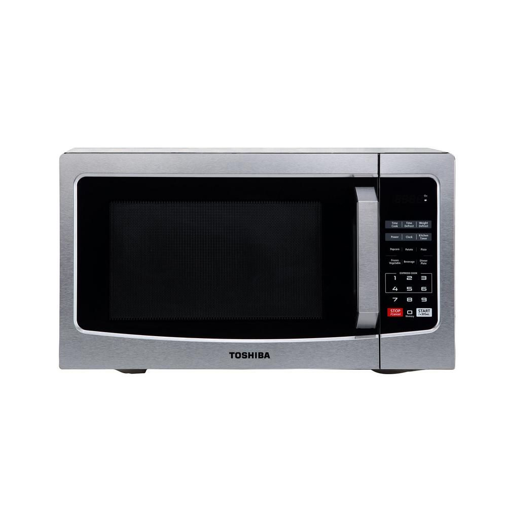Toshiba 1 1 Cu Ft Countertop Digital Microwave In Stainless