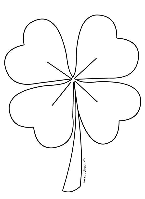 Four Leaf Clover vector   Coloring Page   Four leaf clover ...